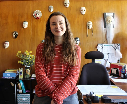 Bridgett Mistrot has been finishing her classwork online and working at the Hardin-Simmons University theater department office, culling files and other tasks there never is time for.