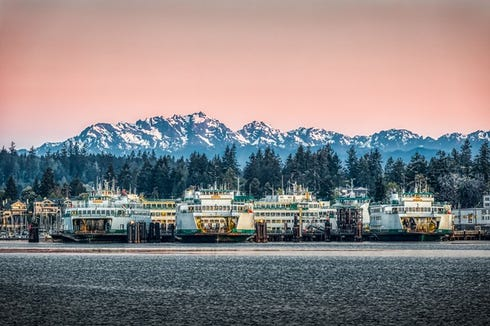 """""""Ferries at Dawn"""" and other works on display at Bergh Images will be visible via Facebook for First Friday."""