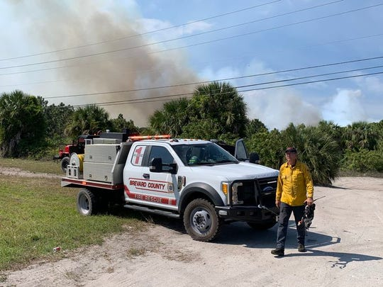 Brevard County Fire Rescue responded to a small brush fire off Grissom Parkway near Port St. John Monday March 30.