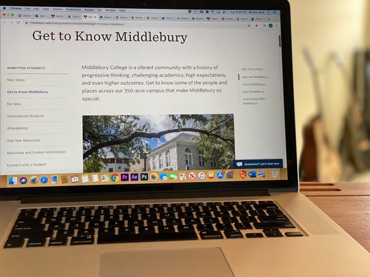 Middlebury College has created a new admissions website with new content to help students virtually visit the school while making their college choice. Campus visits had been canceled because of COVID-19 pandemic in March 2020.