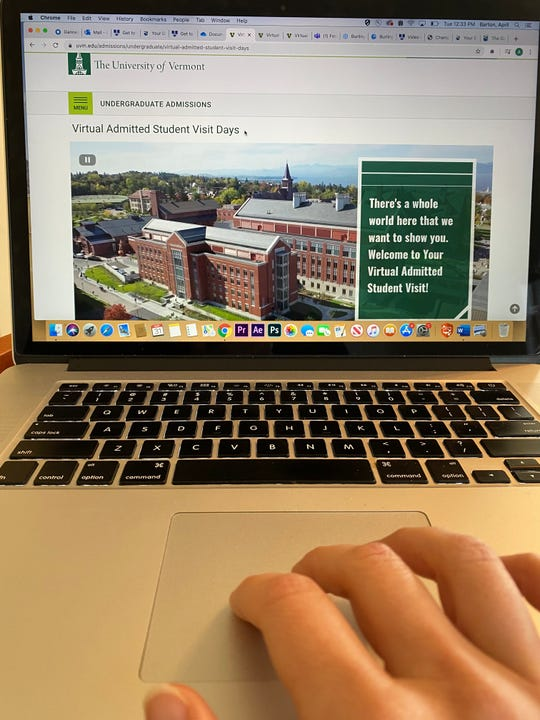 The University of Vermont offers prospective students virtual tours and Admitted Student Visit days to aid their college decision while campus is closed due to COVID-19 pandemic in March 2020.