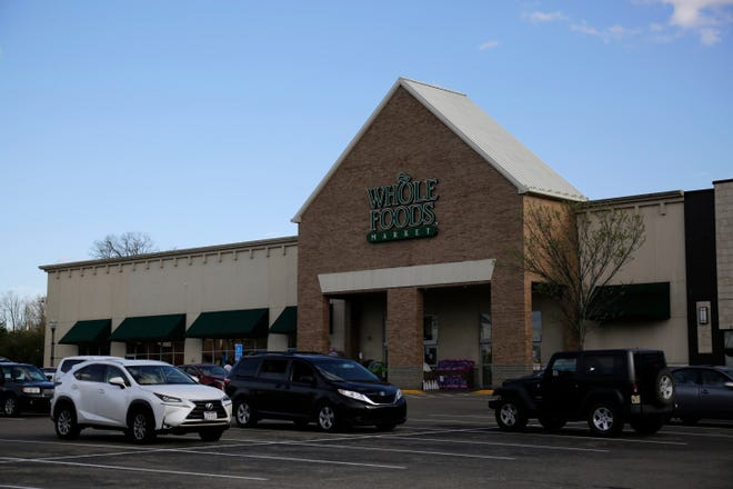 The Whole Foods grocery store location at Rookwood Commons in Norwood, Ohio, on Monday, March 30, 2020.
