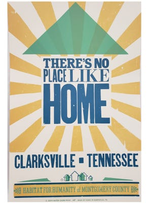 The Clarksville-themed Hatch Show Prints are available for $25 each. All proceeds benefit the home building program through Habitat for Humanity of Montgomery County.