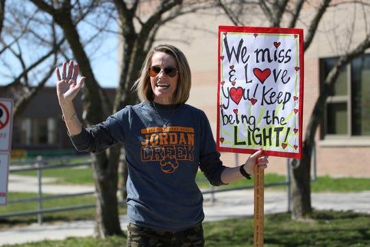 Waves and smiles were plentiful at the Jordan Creek Elementary teacher safari Monday, March 30, 2020.