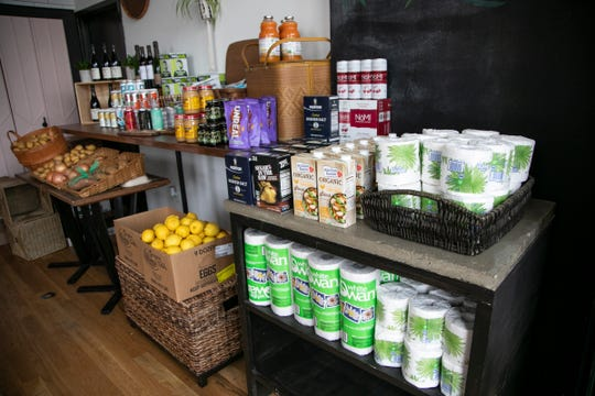 Folk Detroit in Corktown on March 31, 2020. Folk Detroit is doing pre-order only groceries to help keep the business afloat during the stay at home order due to the Novel Coronavirus threat.