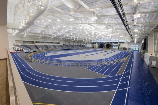 University of Michigan indoor track facility.