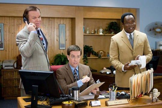 "John C. Reilly, Ed Helms and Isiah Whitlock Jr. in ""Cedar Rapids."""
