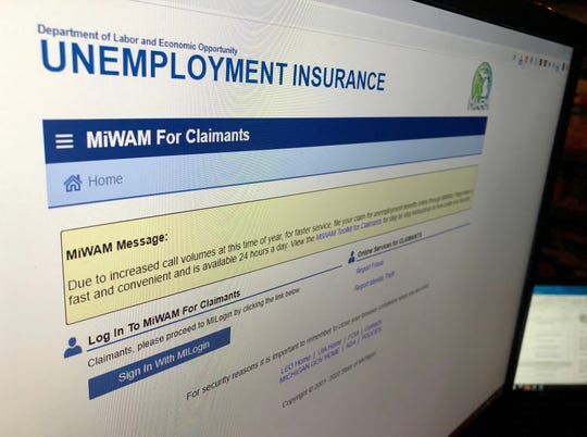 The state's online unemployment system was down for nearly two hours Tuesday as the office fields more claims than the Great Recession amid business shutdowns due to the coronavirus.