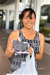 PPE for Guam volunteer mask maker Nicki Rutter.