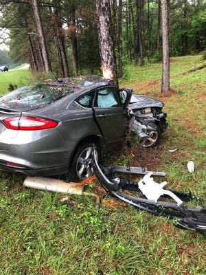 A person driving a Ford Fusion on U.S. 84 near Collins was killed in a crash early Tuesday, March 31, 2020.