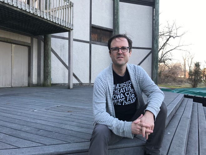 Adam Knight, Riverside Theatre's artistic director, on March 31, 2020