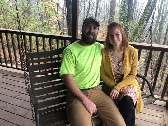 Chris and Kristina Kenny, in this March 2020 photo, have found their calling at Half Ridge Farm in Heiskell.