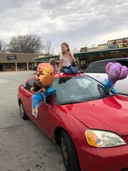 Young daughter's birthday ride as she picks up her Ooh La Lemon gifts