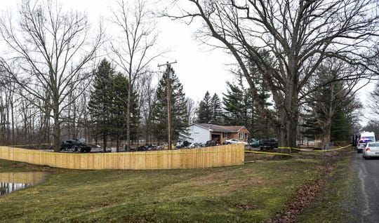 Members of the Michigan State Police and Ingham County Sheriff's Department are on scene at a home in the 3000 block of Haynes Road in Bunker Hill Township near Stockbridge Tuesday, March 31, 2020.  Officials say a 40-year-old man was dropped off at McLaren Hospital in Lansing Monday afternoon with a  life-threatening injuries from a shooting. A news release from the Ingham County Sheriff's Department determined it occurred at this residence. The incident is still under investigation.