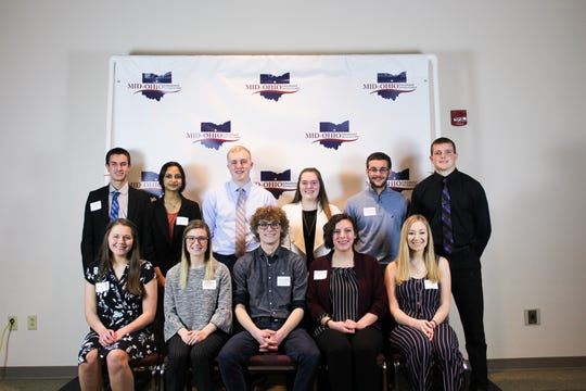 The 11 students pictured here were nominees for the Franklin B. Walter Scholarship. Three of these students were selected to receive the $500 scholarship award.