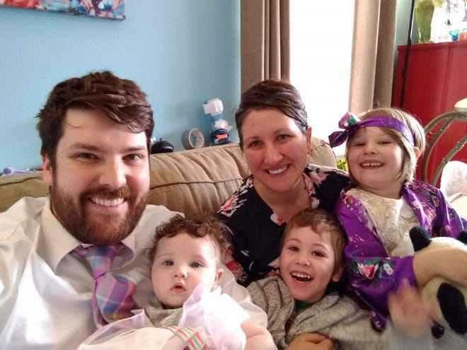 The Purdy family, from Glendale, are doing most of their pandemic school from home, although Enoch goes to school for special education and therapy twice per week.