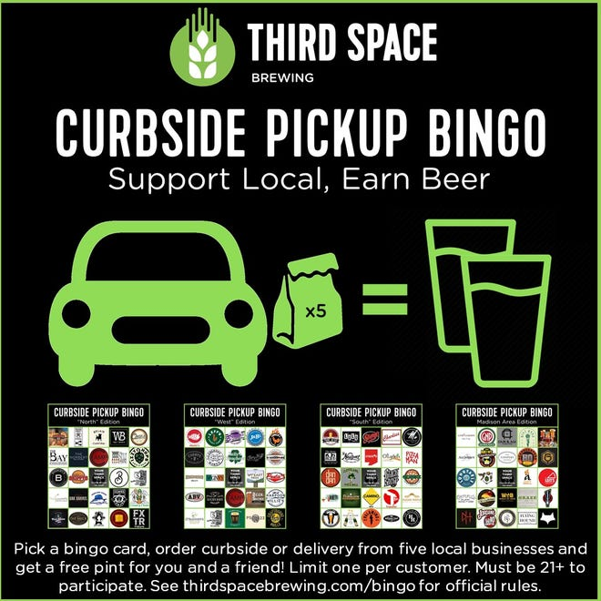 Third Space Brewing created Curbside Pickup Bingo to gather support for bars and restaurants.