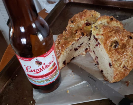 Paula Waldoch uses different types of beer to make beer bread. For this cranberry beer bread, she used Leinenkugel's cranberry ginger shandy.