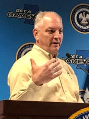 Louisiana Gov. John Bel Edwards holds a coronavirus press conference March 31, 2020.