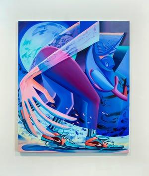 """Karen Seapker, """"The Sower,"""" 2020, oil on canvas, 72 x 60."""