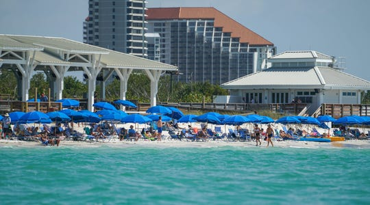 A photo taken last Friday, March 27, 2020, shows Pelican Bay's South Beach. The picture created a stir on social media over the weekend with some questioning why the beach was staying open during the novel coronavirus pandemic.