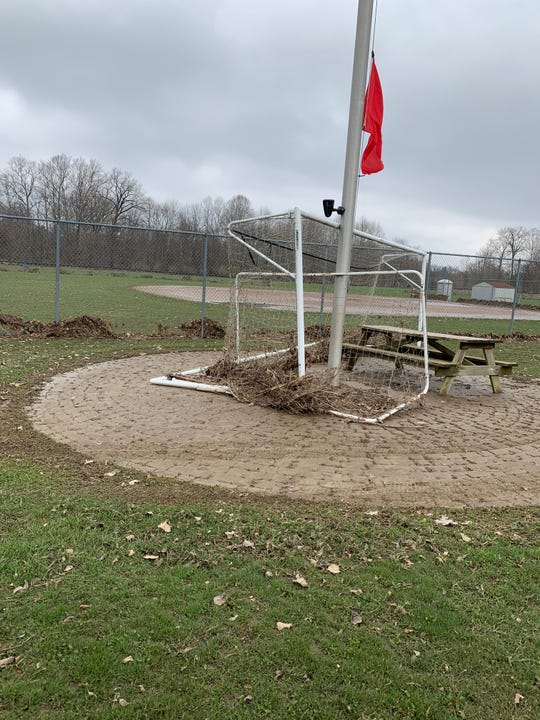 In addition to field and playground damage to Raccoon Valley Park from the recent flooding of the area, there was a significant amount of equipment damage, too.