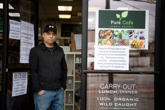 Khalid Mansoor co-owner of Healthway Natural Foods in Tenafly on Tuesday, March 31, 2020.