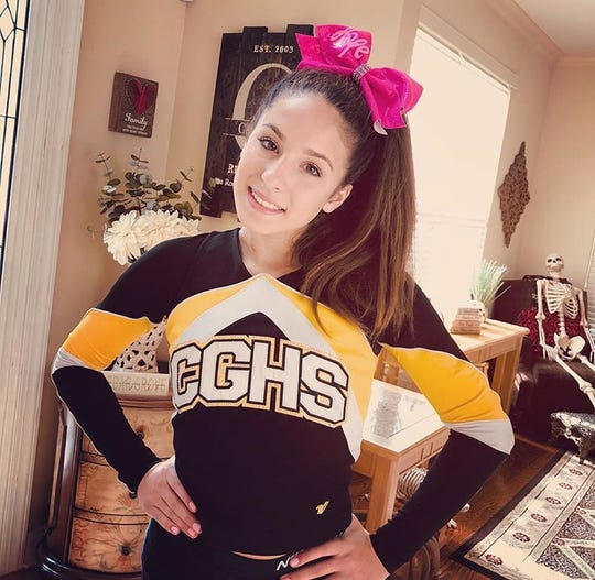 Cedar Grove High School Sophomore and cheerleader Ava Cassilli is one of the four girls who helped start CheerUP! The friends created videos for people to send for a number of different reasons to help spread positivity during the coronavirus quarantines.