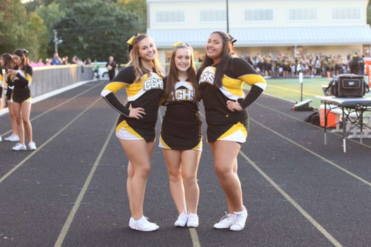 Cedar Grove High School freshman and cheerleaders Sofia Cordaro, Mackenzie Jennings and Alessia Velasquez are three of the four girls who helped start CheerUP! The friends created videos for people to send for a number of different reasons to help spread positivity during the coronavirus quarantines.