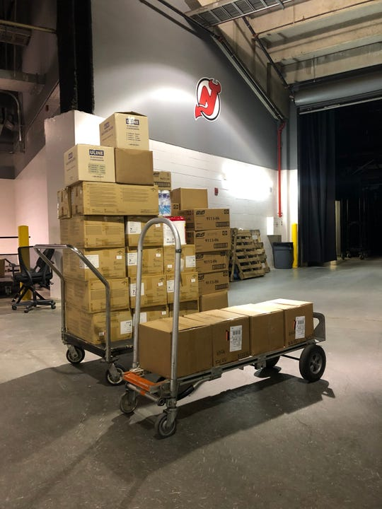 The New Jersey Devils liquidated Prudential center supplies and donated them to RWJBarnabas Health.