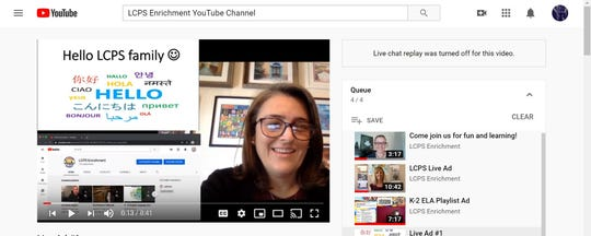 Mrs. Peterson, a teacher for the Las Cruces Public Schools Teaching and Learning Center, will be teaching live courses for LCPS students starting April 1 on YouTube.