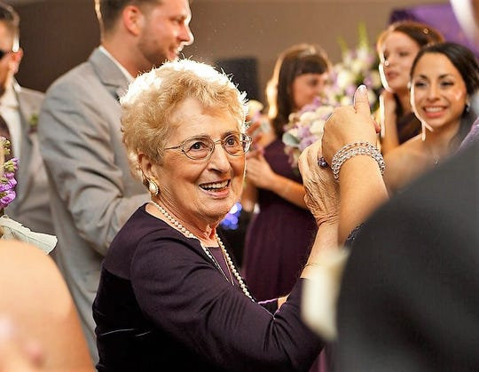 Alice Chavdarian is pictured dancing at a wedding in 2014.