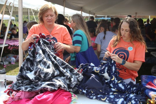 Fleece and Thank you typically donates fleece blankets to kids and teens in the hospital.