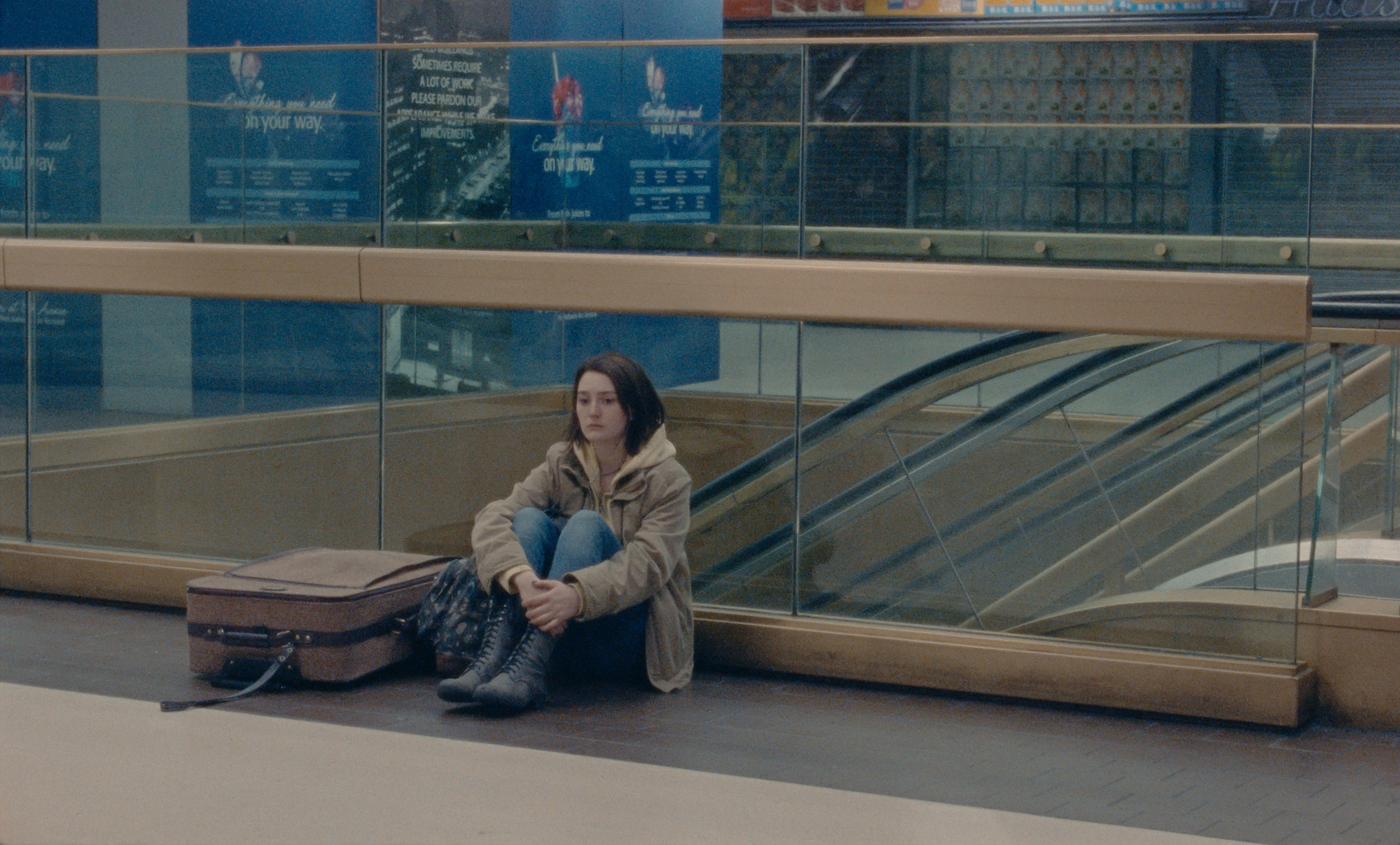 """Sidney Flanigan stars as Autumn, seen here waiting for her cousin in """"Never Rarely Sometimes Always."""""""