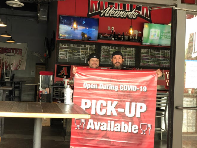 The city of Peoria and the Peoria Chamber of Commerce gave local businesses free banners to display while they offer take-out and delivery during the COVID-19 pandemic.