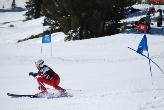 Reno's Tyler Francis won the boys combined ski racing title in the NIAA state championships.