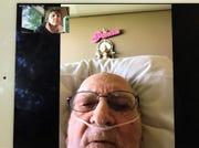 Leonard Cardwell talks to Statesman Journal columnist Capi Lynn via FaceTime on Thursday, March 26, 2020, from the Lebanon veterans' home.