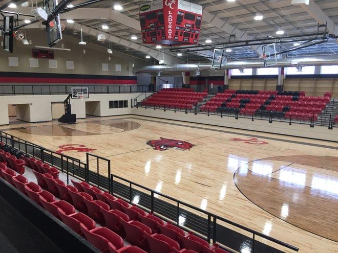 The Glasscock County ISD basketball facility in Garden City, Texas.