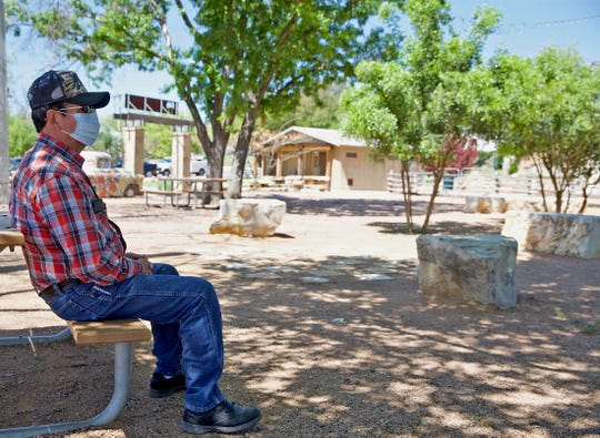Ricardo Hernandez spends time in the Bosque park on the riverwalk in San Angelo prior to parks and other recreational facilities being closed down by city leaders due to concerns about the coronavirus Tuesday, March 31, 2020.