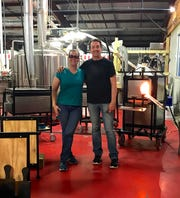 Michelle Pennington and Eric Hess, founders of Sanctuary Arts School and Glass Studio in Shreveport.