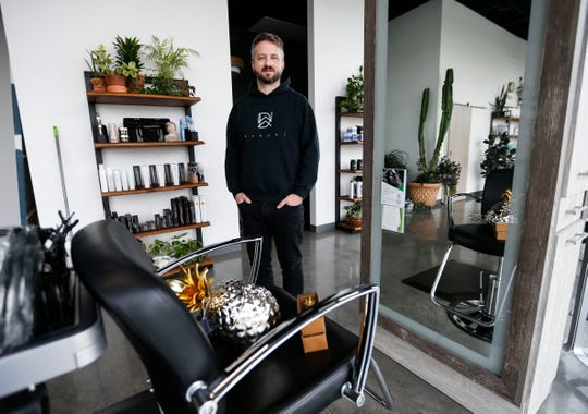David Wenzel, owner of David Wenzel Salon, had to temporarily close the salon and lay off all his staff due to the coronavirus and 30-day stay-at-home order.