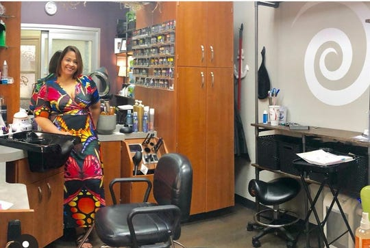 Day Curtiss at her salon, Dayora, in Springfield.