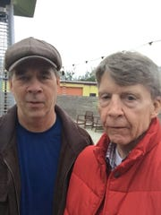 Doug Blackburn, left, and the late Gerald Ensley at Proof in January 2016.