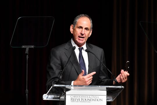 "John McConnell speaks onstage at The Christopher & Dana Reeve Foundation ""Magical Evening"" Gala on November 15, 2018 in New York City."