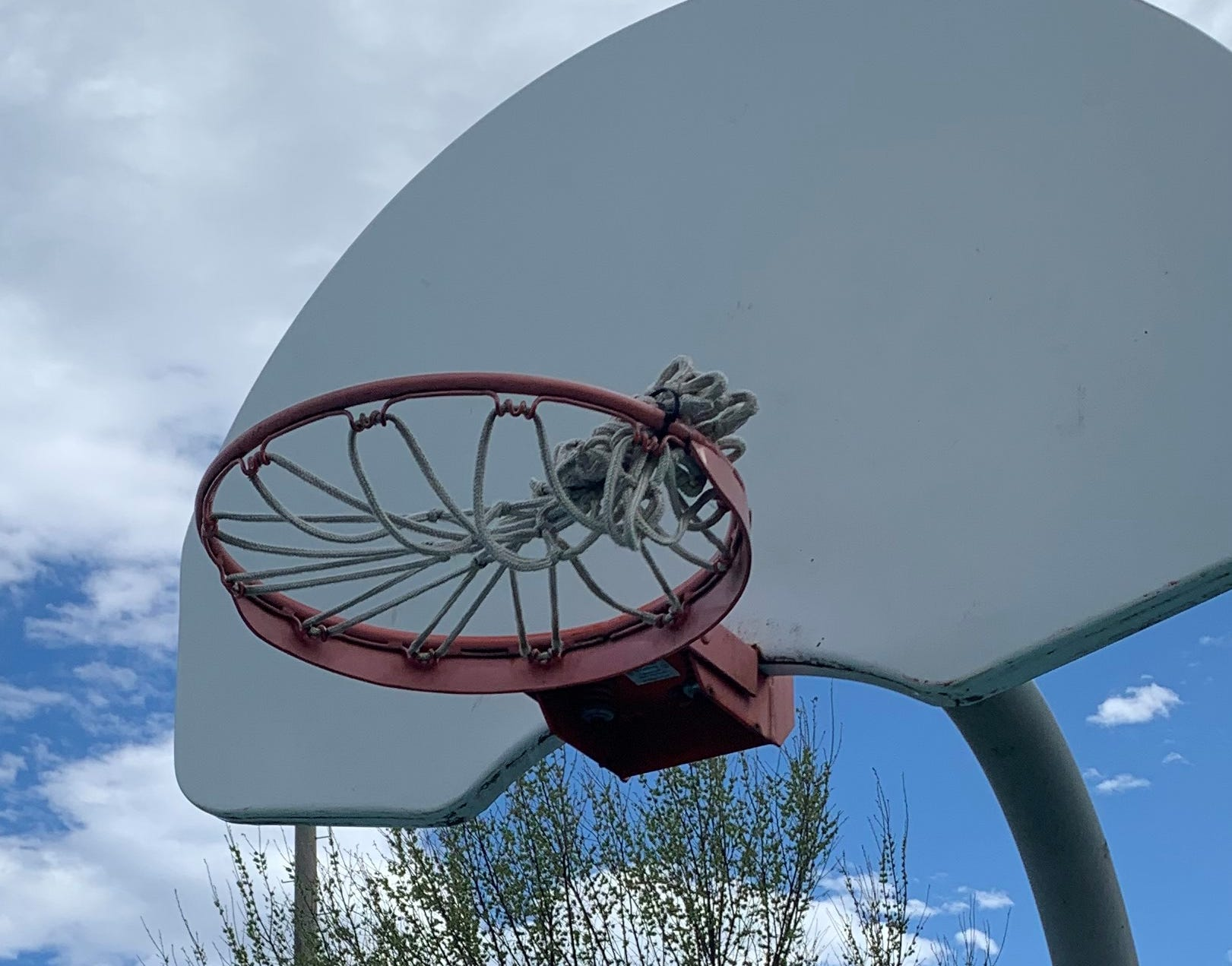 Basketball Rims Removed At Many Public Courts During Coronavirus