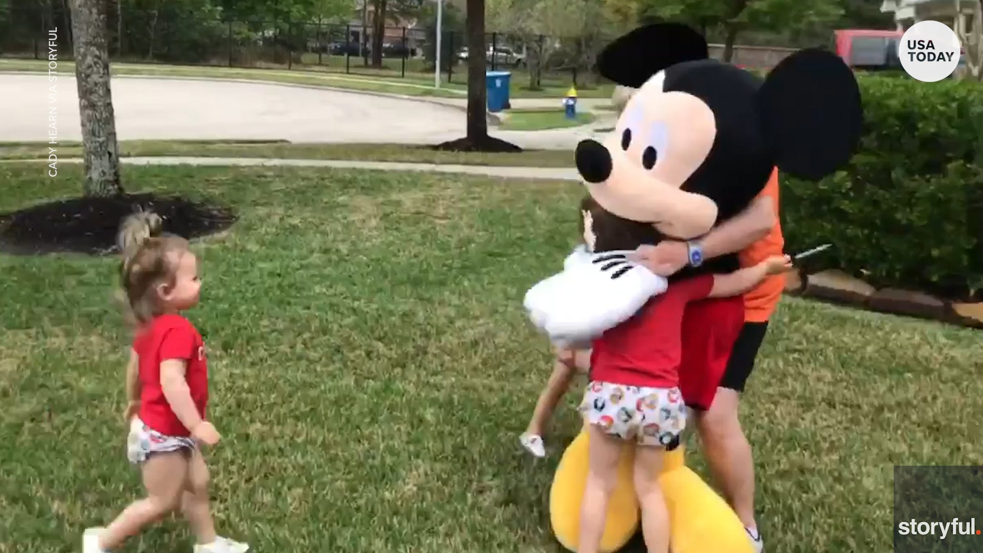 Family recreates trip to Disney after parks close due to coronavirus pandemic