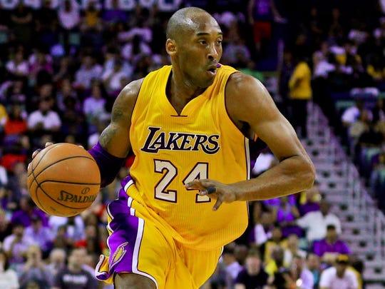 Kobe Bryant won five NBA championships with the Lakers.