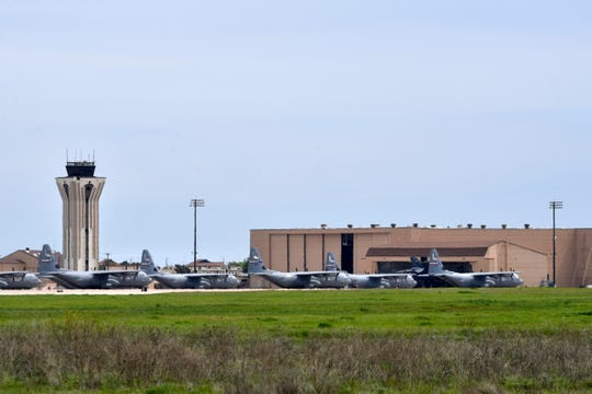 C-130s are parked on the flight line at Dyess Air Force Base last week.