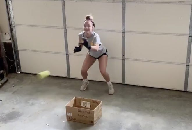 WNC high school athletes are finding inventive ways to workout despite the spread of coronavirus.