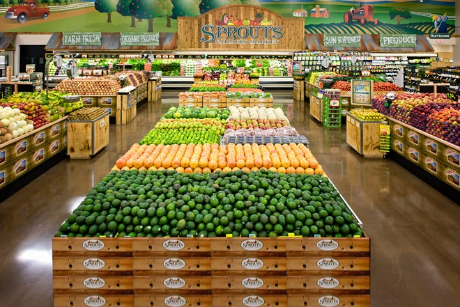 Sprouts features its fresh produce in the center of the store, and boasts affordable prices for healthy food.